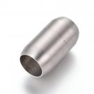 1 Edelstahl-Magnet-Verschluss - zum Einkleben - Ø 14x25 mm (Loch: 10,5mm) - matt