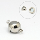 1 Edelstahl-Kugel-Magnet-Verschluss Ø 12x19,5 mm