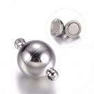 1 Edelstahl-Kugel-Magnet-Verschluss Ø 10x14 mm