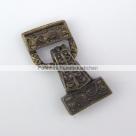 Fold Over Magnetverschluss - 28x13 mm antik bronzefarben