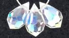 1 facetierter Tropfen 6x10 mm Crystal AB