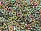 #01.19b 50 Stück Blüten 5 mm - crystal vitrail full etched