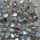 #14 - 50 Stck. PRECIOSA Pip Bead™ 5x7 mm crystal silver rainbow