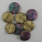 02.1 - 10 Stück Preciosa® Ripple™ (12mm) california green matt