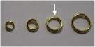 20 Stück Biegeringe 8x1,2mm dick - goldfarben