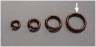 20 Stück Biegeringe 10x1,2mm dick - antikkupferfarben