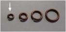 20 Stück Biegeringe 4,5x1mm dick - antikkupferfarben