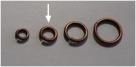 20 Stück Biegeringe 6x1,2mm dick - antikkupferfarben