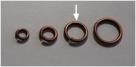 20 Stück Biegeringe 8x1,2mm dick - antikkupferfarben