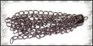 1 Stück Metallanhänger Quaste 7cm hematit