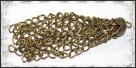 1 Stück Metallanhänger Quaste 7cm antikbronze