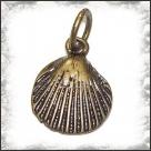 1 Muschel 16 mm - bronze - mit Biegering