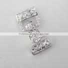 Fold Over Magnetverschluss - 28x13 mm silberfarben