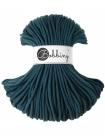 1 m Bobbiny Premium Baumwollkordel in Peacock Blue (Petrol) - Ø 5 mm