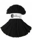 1 m Bobbiny Premium Baumwollkordel in Black - Ø 5 mm