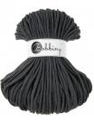 1 m Bobbiny Premium Baumwollkordel in Charcoal (dkl-grau) - Ø 5 mm