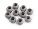 2 Stück Großloch-AcrylPerlen 11x14mm -  Grau