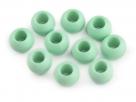 2 Stück Großloch-AcrylPerlen 11x14mm -  Mint