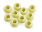 2 Stück Großloch-AcrylPerlen 11x14mm -  Limone