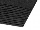 1 Filzmatte ca. 20x30 cm - grau/schwarz - ca. 1,5-2 mm dick
