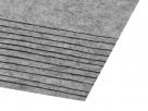 1 Filzmatte ca. 20x30 cm - grau/weiß - ca. 1,5-2 mm dick