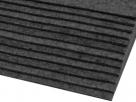 1 Filzmatte ca. 20x30 cm - dkl.-grau - ca. 2-3 mm dick