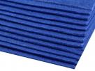 1 Filzmatte ca. 20x30 cm - sapphire - ca. 2-3 mm dick