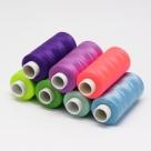 60 Rollen - Nähgarn 0,2mm -Mix- 100% Polyester
