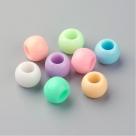 10 Stück Großloch-AcrylPerlen 10x8mm -  Pastel-Mix
