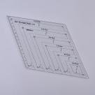 1 Stück Acryl Quilt-Schablone - 60° Winkel Diamond - 270x156x2,9mm, Loch: 3mm