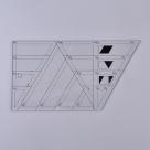 1 Stück Acryl Quilt-Schablone - Trapez - 208x114x2,9mm, Loch: 6,7mm