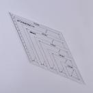 1 Stück Acryl Quilt-Schablone - 45° Winkel Diamond - 300x125x2,9mm, Loch: 3mm