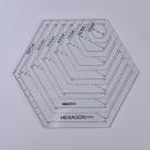 1 Stück Acryl Quilt-Schablone - Hexagon - 178x156x2,9mm, Loch: 3mm