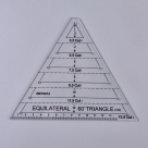 1 Stück Acryl Quilt-Schablone - 60° Winkel Triangle - 136x166x2,9mm, Loch: 3mm