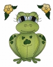 Stickdatei Frosch #3