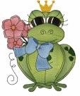 Stickdatei Frosch #2