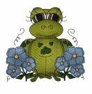 Stickdatei Frosch #1