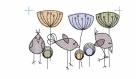 Kantenelement - Vögel #2