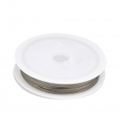 1 Rolle Tiger Tail Edelstahl-nylonummantelt, 0,45 mm - edelstahlfarben - 50m