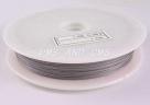 1 Rolle Tiger Tail Edelstahl-nylonummantelt, 0,35 mm - edelstahlfarben - 70m