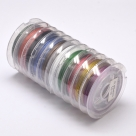 10 Rollen Tiger Tail Edelstahl-nylonummantelt, 0,45 mm - Mix - je 10m