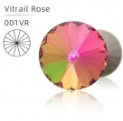 1 Glas-Rivoli 08 mm - Vitrail Rose - Rückseite: foliert