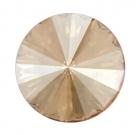 1 Glas-Rivoli 08 mm - Golden Shadow - Rückseite: foliert