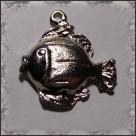 1 Fisch 21 mm - antiksilber