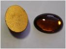 #31 - 1 Stück Glasmugle oval dkl.-topaz