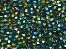 #21 50 Stück - 4,0 mm Glasschliffperlen - green iris