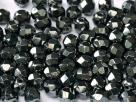 #30 50 Stück - 4,0 mm Glasschliffperlen - hematit