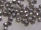 #43 50 Stück - 4,0 mm Glasschliffperlen - metallic silver