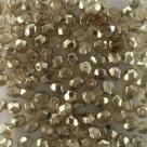 #103.09 50 Stück - 4,0 mm Glasschliffperlen -Crystal Half Labrador - Coated - Lt Topaz