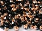 #27 50 Stück - 4,0 mm Glasschliffperlen - jet capri gold